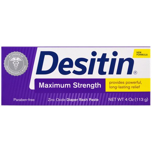 Desitin, Diaper Rash Paste, Maximum Strength, 4 oz (113 g) Review