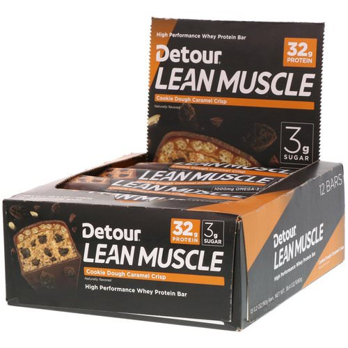 Detour, Lean Muscle Bars, Cookie Dough Caramel Crisp, 12 Bars, 3.2 oz (90 g) Each Review