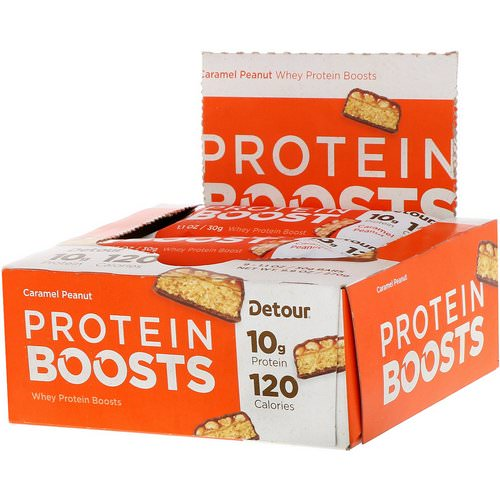 Detour, Protein Boosts Bars, Caramel Peanut, 9 Bars, 1.1 oz (30 g) Each Review