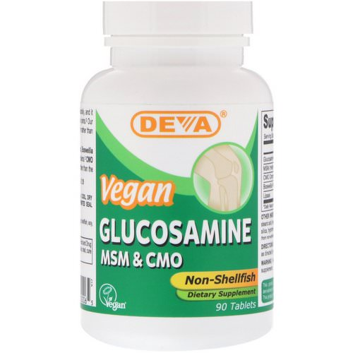 Deva, Vegan Glucosamine MSM & CMO, Non-Shellfish, 90 Tablets Review