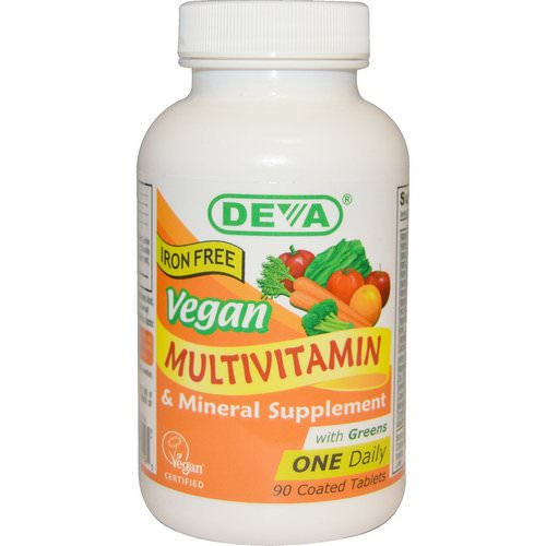 Deva, Vegan, Multivitamin & Mineral Supplement, Iron Free, 90 Coated Tablets Review