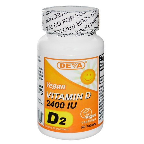 Deva, Vegan, Vitamin D, D2, 2400 IU, 90 Tablets Review