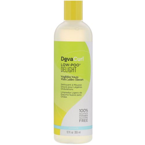 DevaCurl, Low-Poo, Delight, Weightless Waves Mild Lather Cleanser, 12 fl oz (355 ml) Review