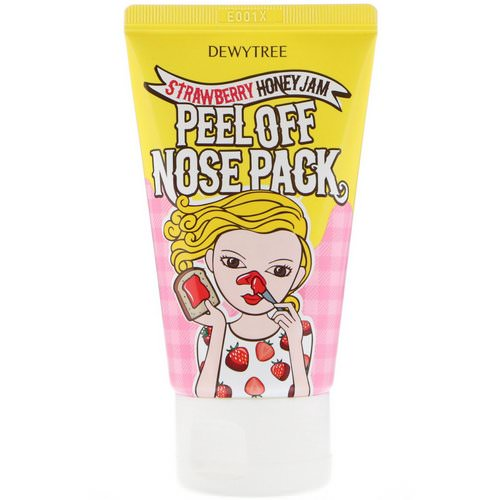 Dewytree, 1 Step Nose Care, Peel Off Nose Pack, Strawberry Honey Jam, 70 ml Review