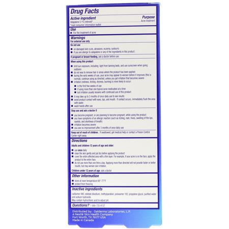 Differin Acne Treatment Adapalene Gel 0 1