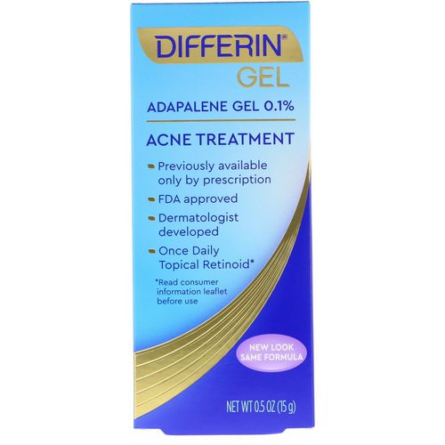 Differin Acne Treatment Adapalene Gel 0 1