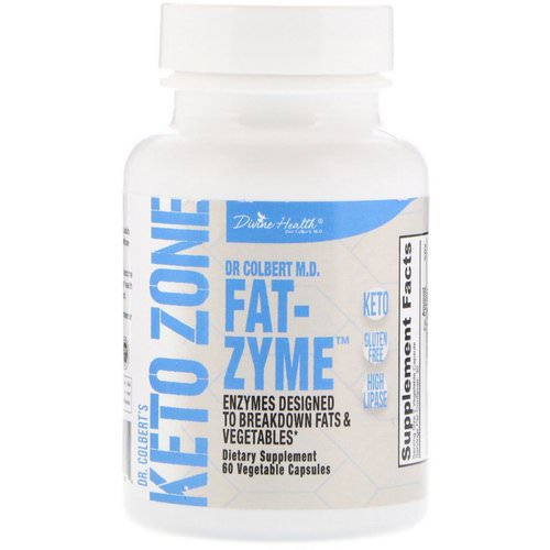 Divine Health, Dr. Colbert's Keto Zone, Fat-Zyme, 60 Vegetable Capsules Review