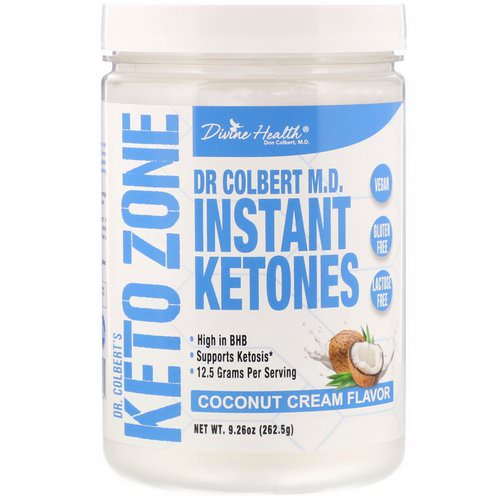 Divine Health, Dr. Colbert's Keto Zone, Instant Ketones, Coconut Cream, 9.26 oz (262.5 g) Review