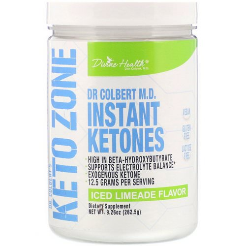 Divine Health, Dr. Colbert's Keto Zone, Instant Ketones, Iced Limeade Flavor, 9.26 oz (262.5 g) Review
