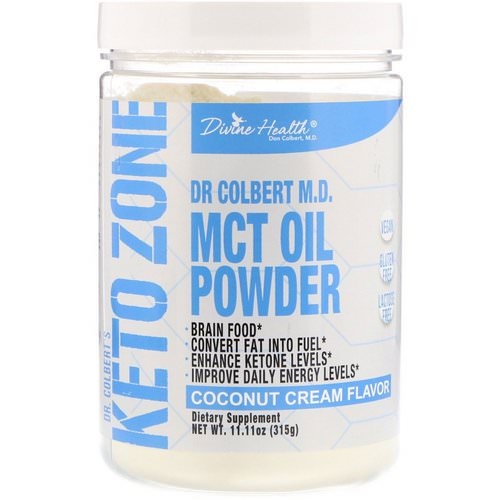 Divine Health, Dr. Colbert's Keto Zone, MCT Oil Powder, Coconut Cream Flavor, 11.11 oz (315 g) Review