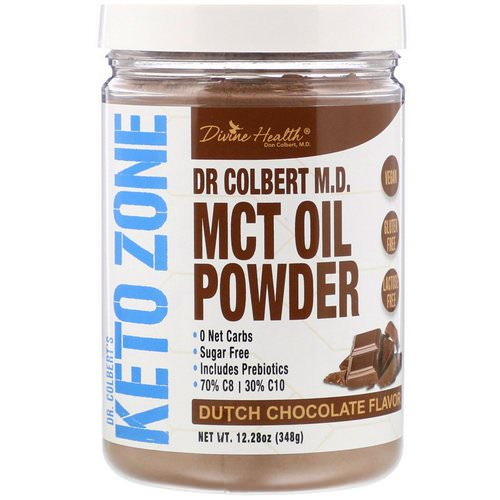 Divine Health, Dr Colbert's Keto Zone, MCT Oil Powder, Dutch Chocolate Flavor, 12.28 oz (348 g) Review