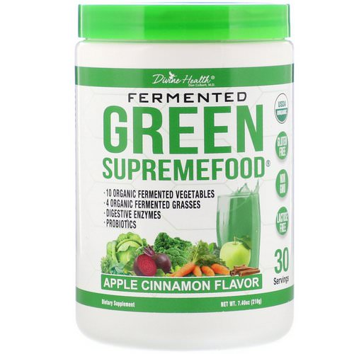 Divine Health, Fermented Green Supremefood, Apple Cinnamon, 7.40 oz (210 g) Review
