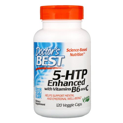 Doctor's Best, 5-HTP, Enhanced with Vitamins B6 & C, 120 Veggie Caps Review