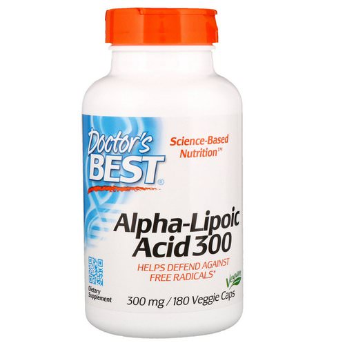 Doctor's Best, Alpha-Lipoic Acid, 300 mg, 180 Veggie Caps Review