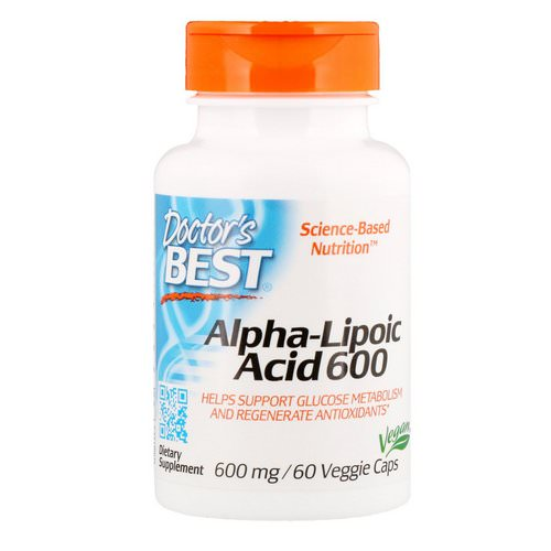 Doctor's Best, Alpha-Lipoic Acid, 600 mg, 60 Veggie Caps Review