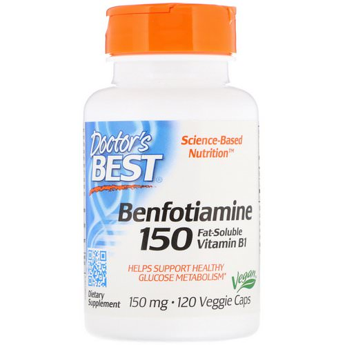 Doctor's Best, Benfotiamine 150, Fat-Soluble Vitamin B1, 150 mg, 120 Veggie Caps Review