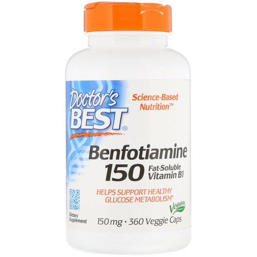 Doctor's Best, Benfotiamine, 150 mg, 360 Veggie Caps Review