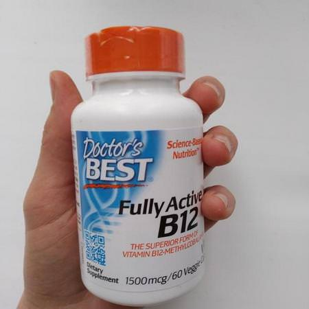 Doctor's Best, Best Fully Active B12, 1500 mcg, 60 Veggie Caps Review