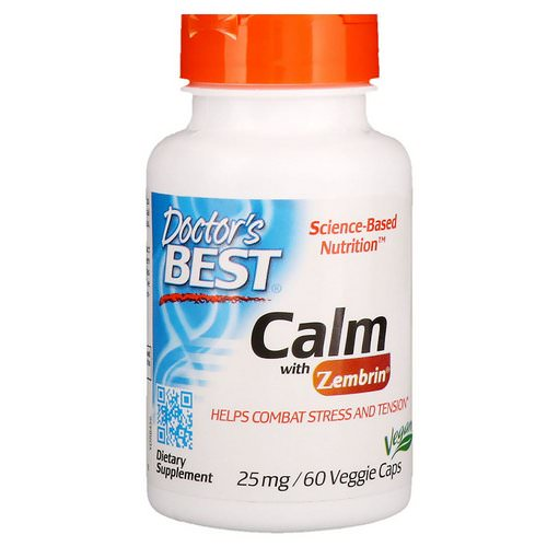 Doctor's Best, Calm with Zembrin, 25 mg, 60 Veggie Caps Review