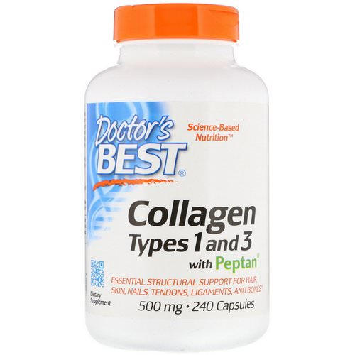 Doctor's Best, Collagen Types 1 & 3 with Peptan, 500 mg, 240 Capsules Review