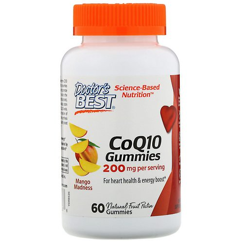 Doctor's Best, CoQ10 Gummies, Mango Madness, 200 mg, 60 Gummies Review