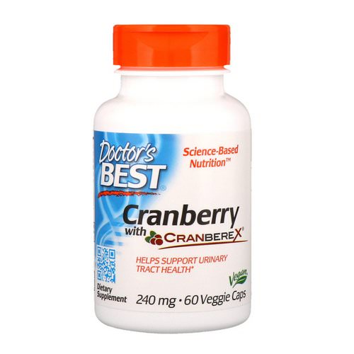 Doctor's Best, Cranberry with Cranberex, 240 mg, 60 Veggie Caps Review