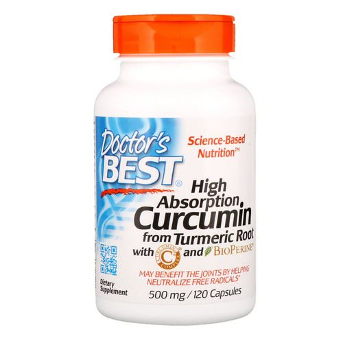 Doctor's Best, Curcumin, High Absorption, 500 mg, 120 Capsules Review