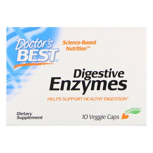 Doctor's Best, Digestive Enzymes, 10 Veggie Caps Review