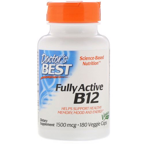 Doctor's Best, Fully Active B12, 1,500 mcg, 180 Veggie Caps Review