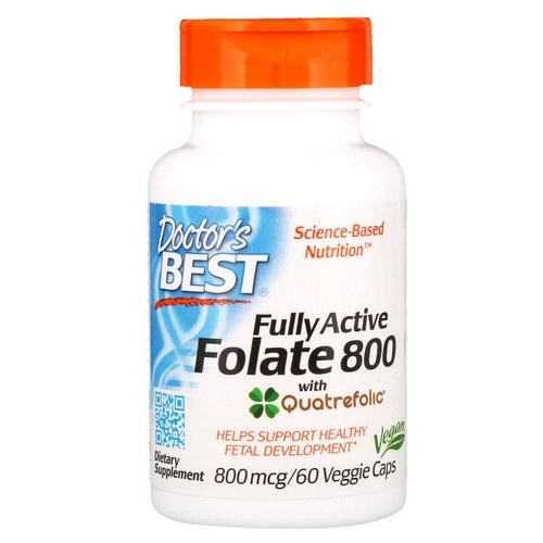 Doctor's Best, Fully Active Folate 800, 800 mcg, 60 Veggie Caps Review