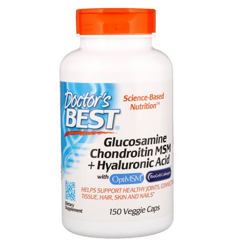 Doctor's Best, Glucosamine Chondroitin MSM + Hyaluronic Acid, 150 Veggie Caps Review