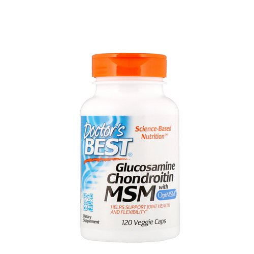 Doctor's Best, Glucosamine Chondroitin MSM with OptiMSM, 120 Veggie Caps Review