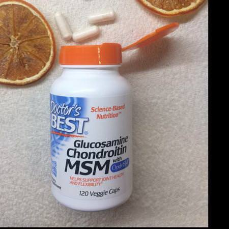 Doctor's Best, Glucosamine Chondroitin MSM with OptiMSM, 360 Veggie Caps Review