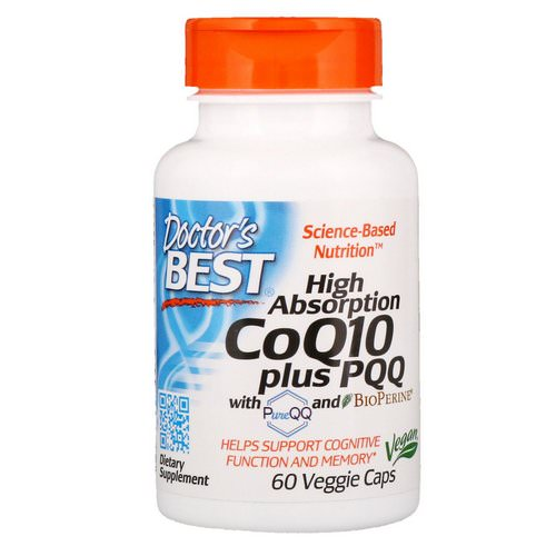 Doctor's Best, High Absorption CoQ10 Plus PQQ, 60 Veggie Caps Review