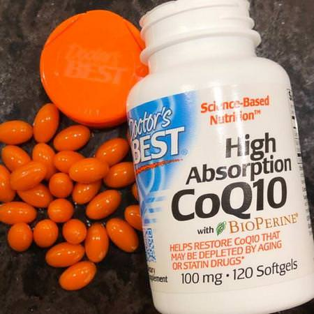 Doctor's Best Supplements Antioxidants Coenzyme Q10 CoQ10