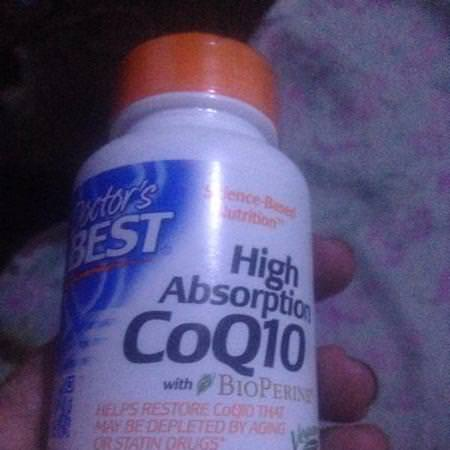 Doctor's Best, High Absorption CoQ10 with BioPerine, 100 mg, 360 Veggie Caps Review