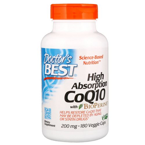 Doctor's Best, High Absorption CoQ10 with BioPerine, 200 mg, 180 Veggie Caps Review
