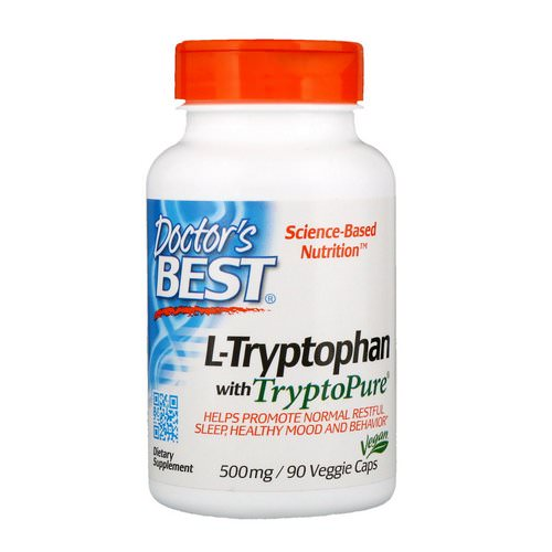 Doctor's Best, L-Tryptophan with TryptoPure, 500 mg, 90 Veggie Caps Review