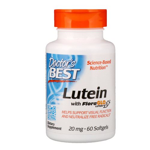 Doctor's Best, Lutein with FloraGlo Lutein, 20 mg, 60 Softgels Review