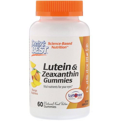 Doctor's Best, Lutein & Zeaxanthin Gummies, Mango Madness, 60 Gummies Review