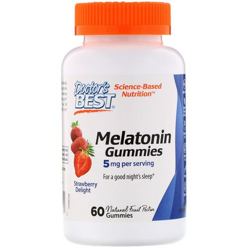 Doctor's Best, Melatonin Gummies, Strawberry Delight, 5 mg, 60 Gummies Review