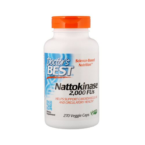 Doctor's Best, Nattokinase, 2,000 FUs, 270 Veggie Caps Review