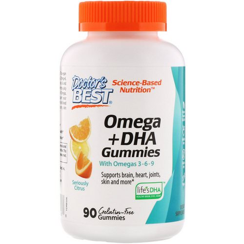 Doctor's Best, Omega+ DHA, Seriously Citrus, 90 Gummies Review