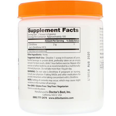 L-Ornithine, Amino Acids, Supplements