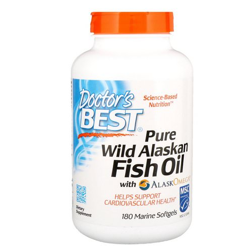 Doctor's Best, Pure Wild Alaskan Fish Oil with AlaskOmega, 180 Marine Softgels Review