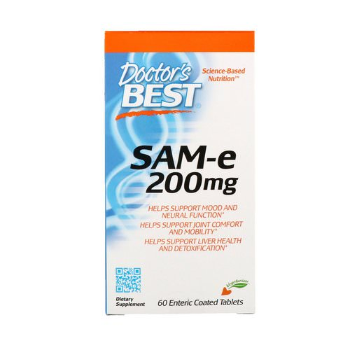 Doctor's Best, SAM-e, 200 mg, 60 Enteric Coated Tablets Review