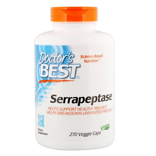 Doctor's Best, Serrapeptase, 40,000 SPU, 270 Veggie Caps Review