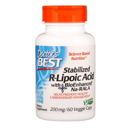 Doctor's Best, Stabilized R-Lipoic Acid with BioEnhanced Na-RALA, 200 mg, 60 Veggie Caps Review