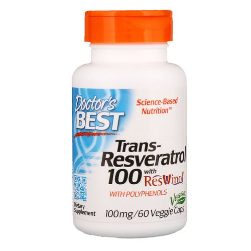 Doctor's Best, Trans-Resveratrol with Resvinol, 100 mg, 60 Veggie Caps Review