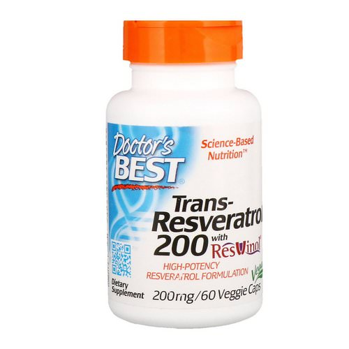 Doctor's Best, Trans-Resveratrol with Resvinol, 200 mg, 60 Veggie Caps Review